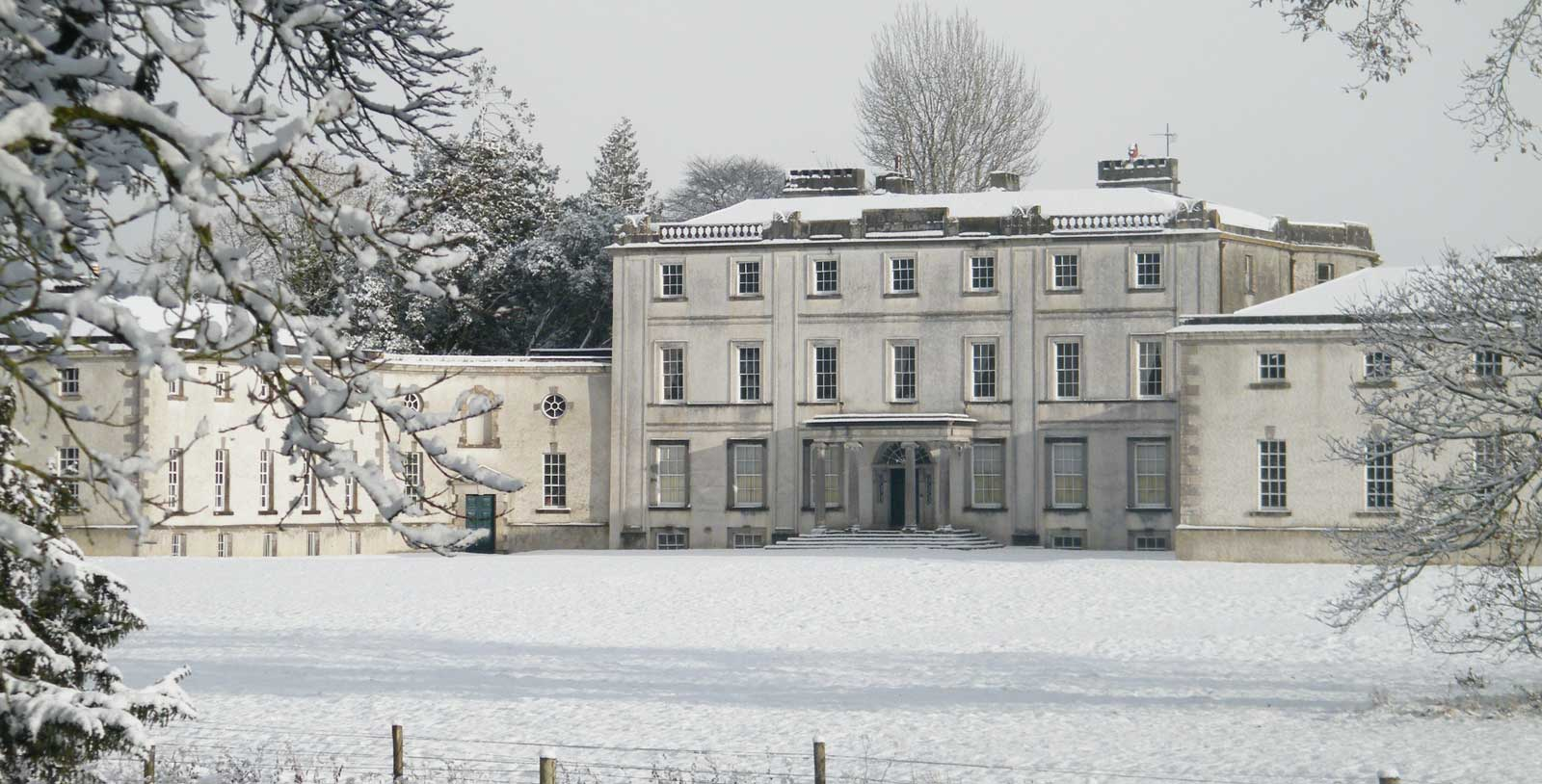Strokestown Park House Winter Christmas Victorian Santa Snow