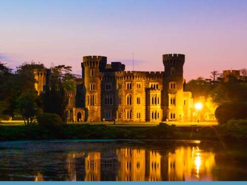 Johnstown Castle in the dark