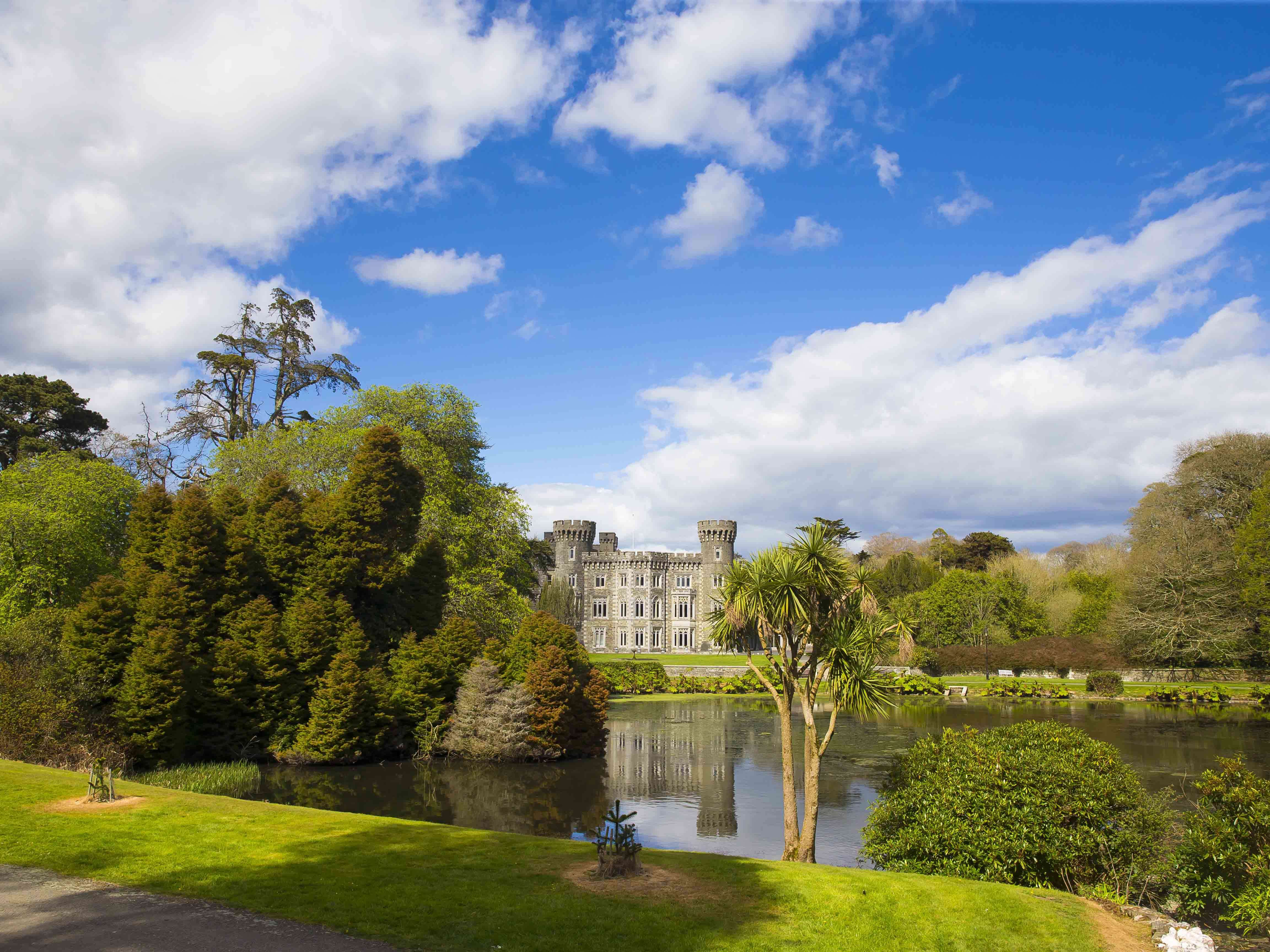 Photo of Johnstown Castle with lake view in front