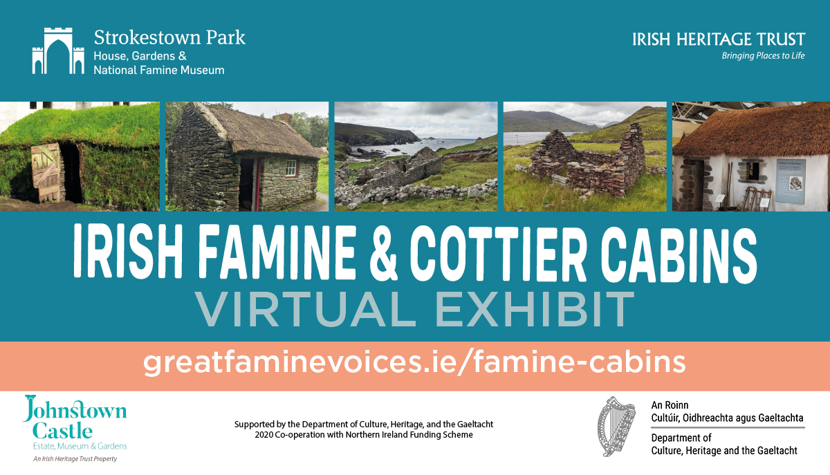 Poster Irish Famine & Cottier Cabins